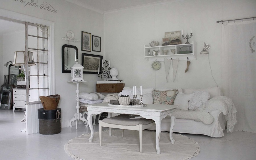 Matrimonio Shabby Chic Total White : Stile total white