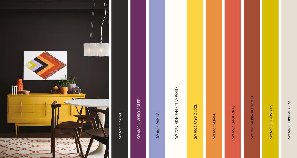 """Palette Intrepid: dal vivace viola """"kimono"""", fino ad arrivare a colori più energetici come il citronella."""